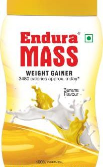 Endura Mass Weight Gainers/Mass Gainers  (500 g, Banana)