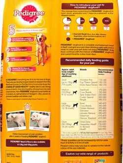 Pedigree Adult Meat Rice 3 kg Dry Dog Food